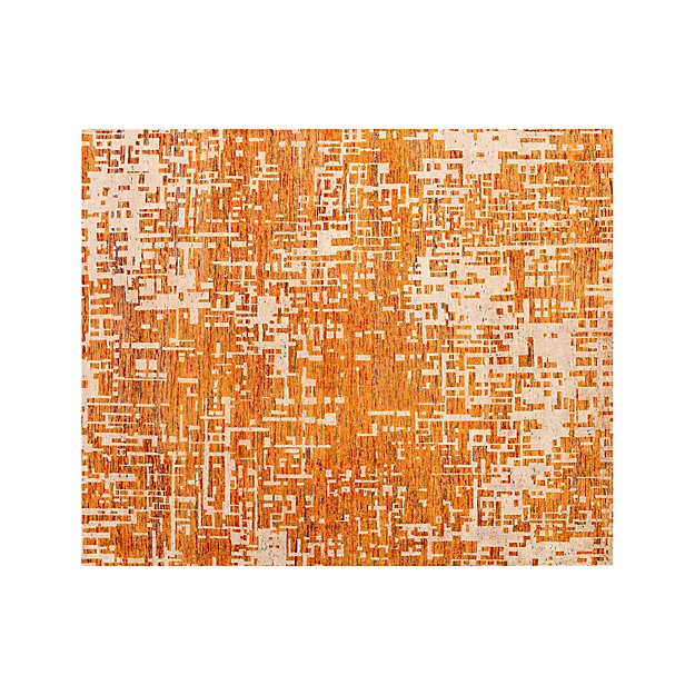 Celosia Orange Hand Knotted Rug 8'x10'