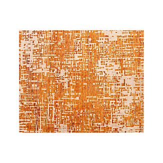 Celosia Orange Hand Knotted 8'x10' Rug