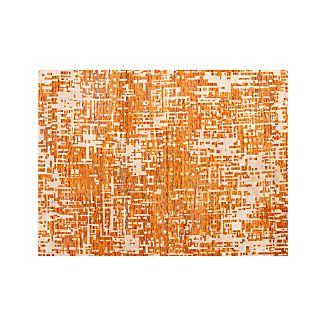 Celosia Orange Hand Knotted Rug 10'x14'
