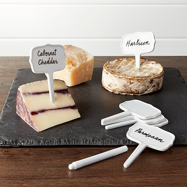Ceramic Cheese Markers Set of Six
