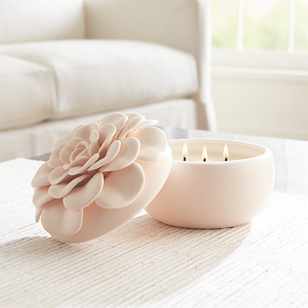 Ceramic Flower Coconut Milk Mango Candle - Image 1 of 5
