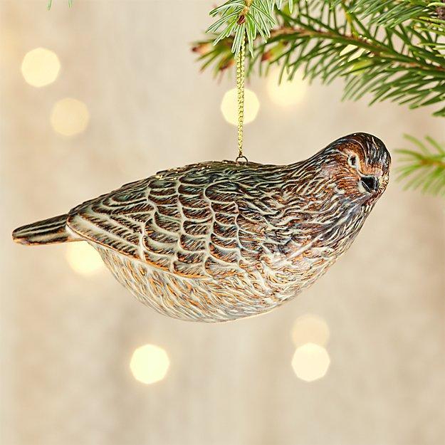 Ceramic Partridge Ornament