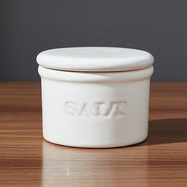 Ceramic Salt Cellar Reviews Crate And Barrel