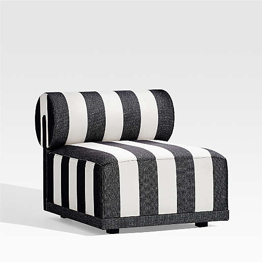 Cerca Striped Armless Lounge Chair