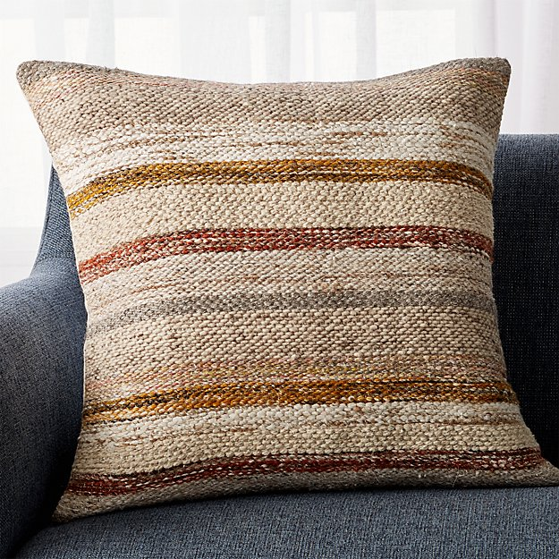 "Ceres Desert Stripe Pillow 23"" - Image 1 of 5"