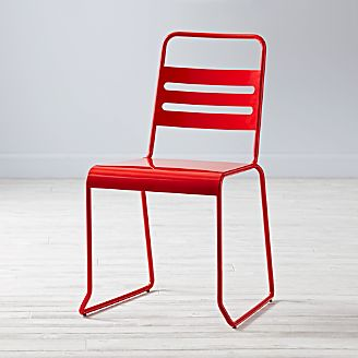 Kids Homeroom Red Metal Desk Chair