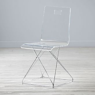 Kids Now You See It Acrylic Desk Chair With Silver Base