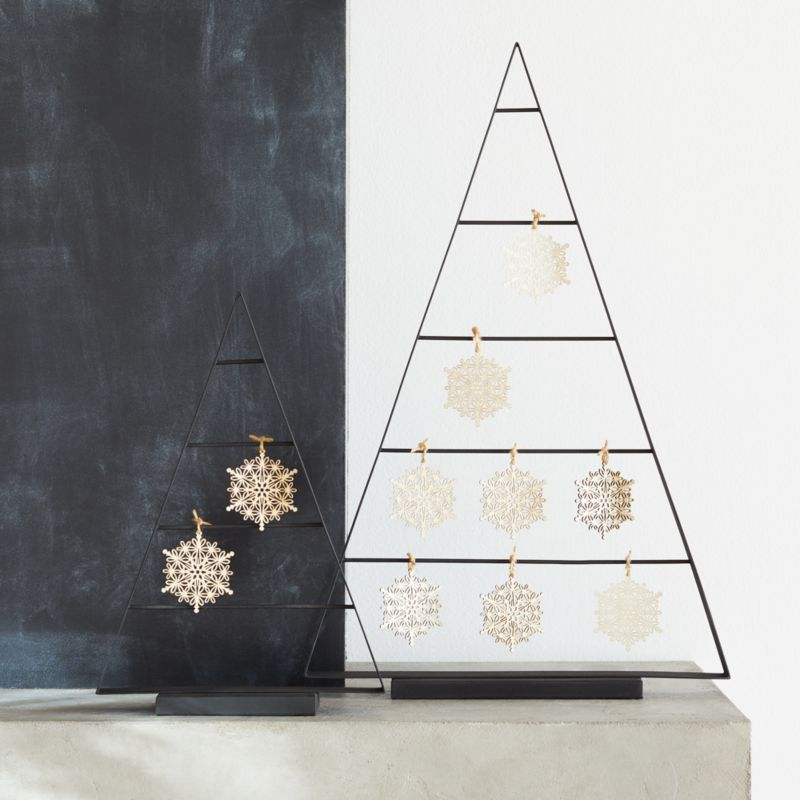 Chalet Trees With Ornaments by Crate&Barrel