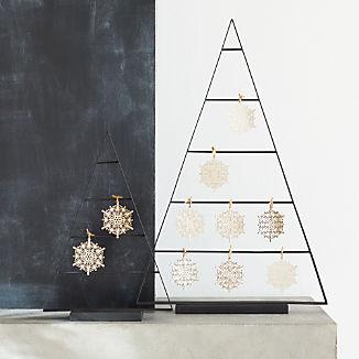 Chalet Small Zinc Ornament Tree