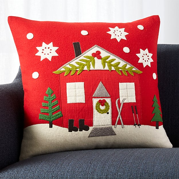 """Chalet 20"""" Pillow with Feather-Down Insert"""
