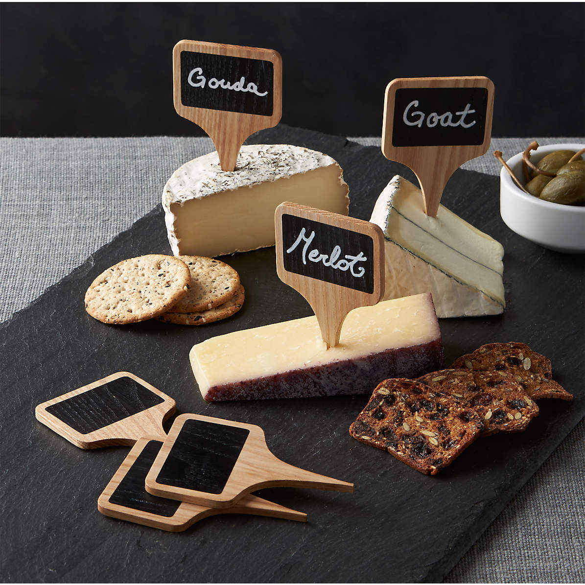Chalkboard Cheese Markers Set Of 6 Reviews Crate And Barrel Canada