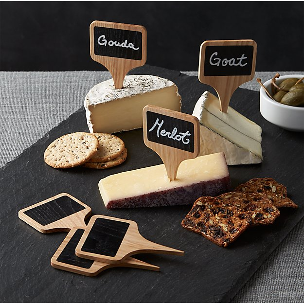 Chalkboard Cheese Markers, Set of 6 - Image 1 of 9