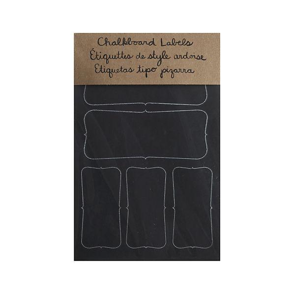 Set of 16 Chalkboard Sticker Labels