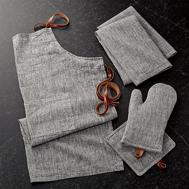 Chambray Grey Kitchen Textiles - Image 1 of 5