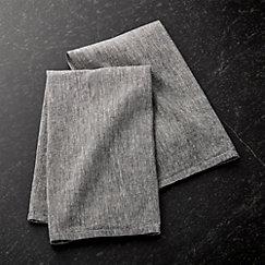 Chambray Grey Dish Towels Set Of 2