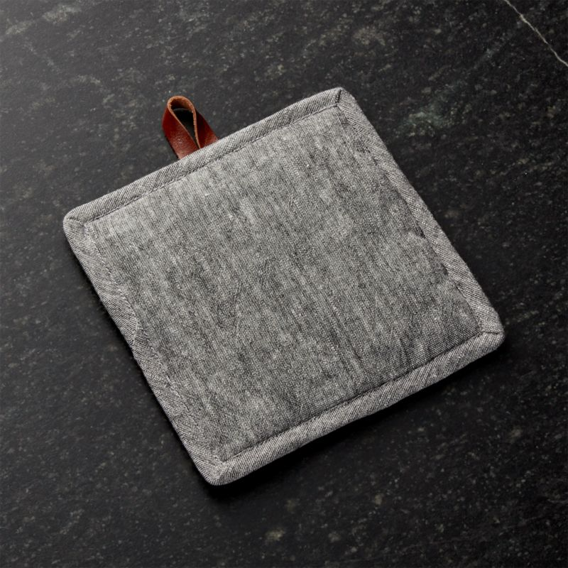 Chambray Grey Pot Holder by Crate&Barrel