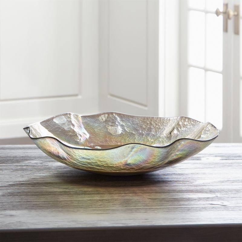 Champagne Glass Centerpiece - Decorative Centerpiece Bowls: Glass & Metal Crate And Barrel