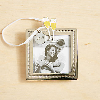 Champagne Toast Frame Ornament 2019