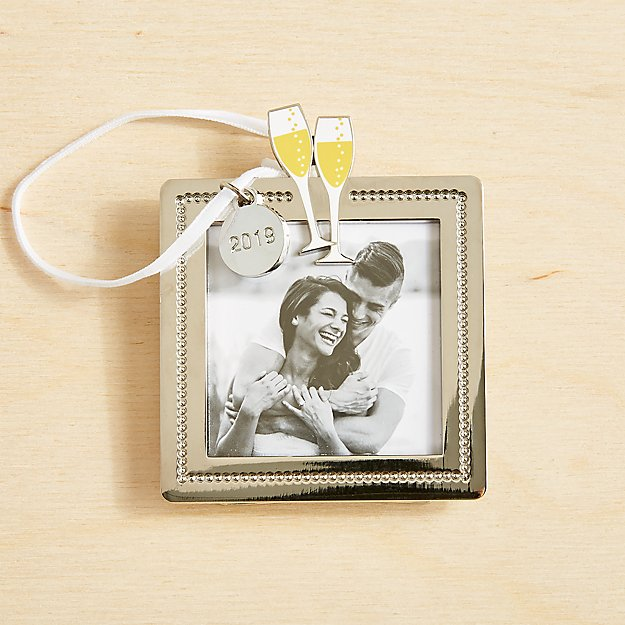Champagne Toast Frame Ornament 2019 - Image 1 of 1