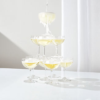 Champagne Tower Coupe Glasses, Set of 10
