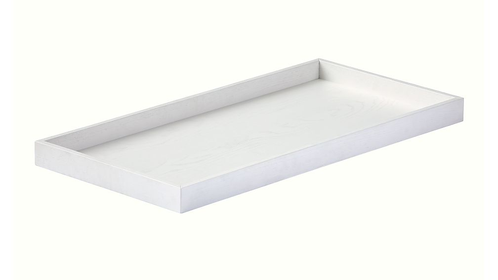 white glaze topside changing table topper + reviews | crate and barrel
