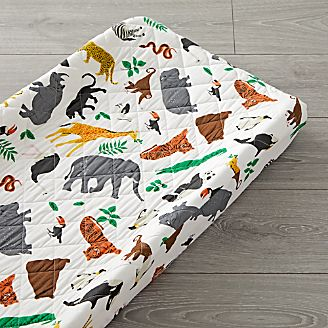 Changing pads and covers crate and barrel jungle animal changing pad cover negle Image collections
