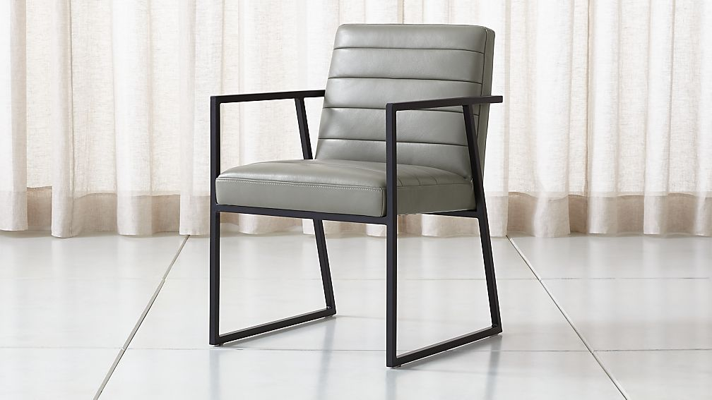 Channel Leather Arm Chair - Image 1 of 7