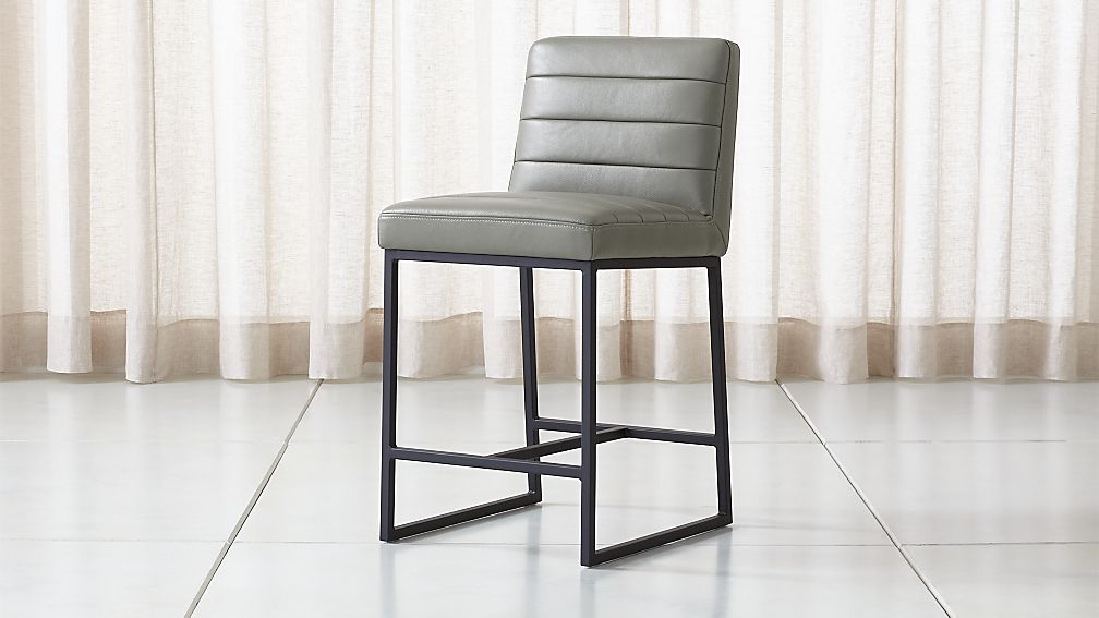 2d98ba57ab46 Channel Leather Counter Stool + Reviews