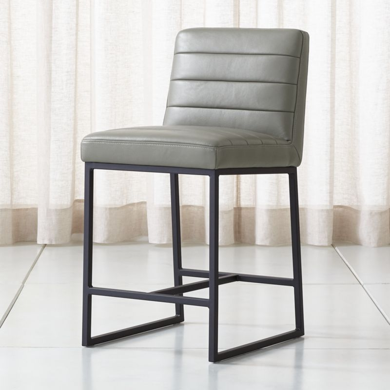 Fine Channel Leather Counter Stool Evergreenethics Interior Chair Design Evergreenethicsorg