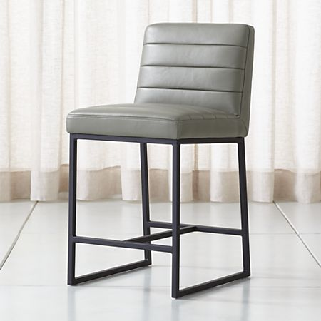 promo code c77ef 8d658 Channel Leather Counter Stool