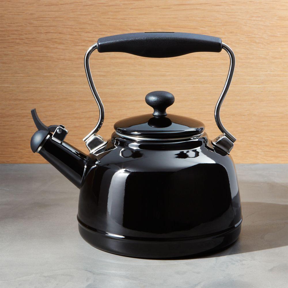 Chantal ® Vintage Black Whistling Tea Kettle - Crate and Barrel