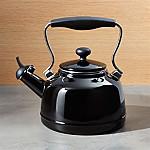 Chantal ® Vintage Black Whistling Tea Kettle