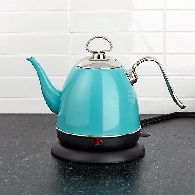 chantal mia electric aqua tea kettle reviews crate and. Black Bedroom Furniture Sets. Home Design Ideas