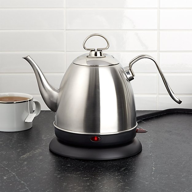 electric tea kettle chantal 174 electric stainless steel tea kettle crate 12602