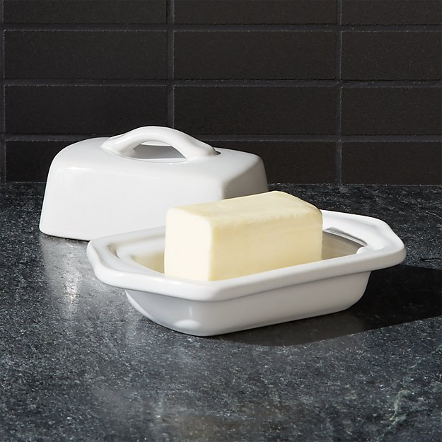 Chantal © White Mini Butter Dish - Image 1 of 4