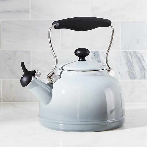 Chantal ® Vintage Grey Steel Enamel Tea Kettle