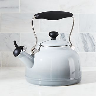 Chantal ® Vintage Grey Steel Enamel Tea Kettle