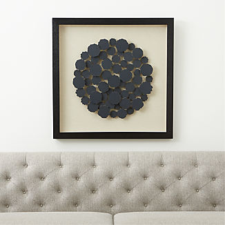 Charcoal Disk Paper Wall Art