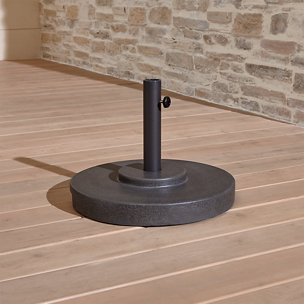 Charcoal Finish Outdoor Patio Umbrella Stand
