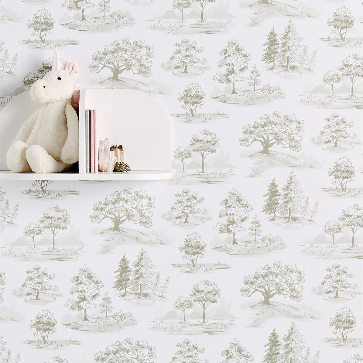 Chasing Paper Tree Toile Removable Wallpaper Reviews Crate And Barrel