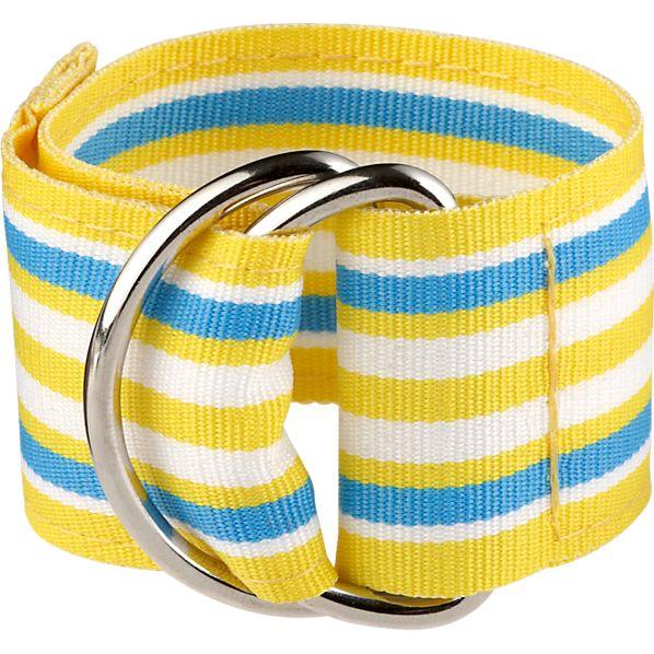 Chatham Yellow Stripe Napkin Ring
