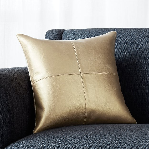 Chaz Copper Leather Pillow
