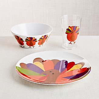 Cheerful Turkey 3-Piece Set