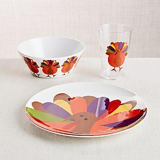 Cheerful Turkey 3-Piece Set