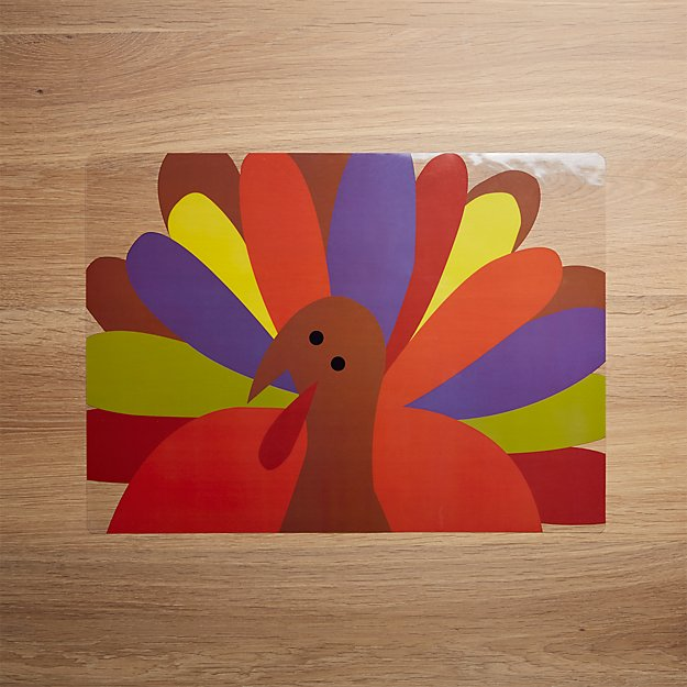 Cheerful Turkey Easy-Care Placemat