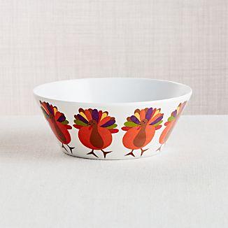 Cheerful Turkey Melamine Bowl