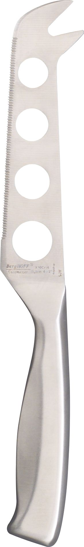 Specialty blade for the gourmet cheese course. Holes in the narrow blade keep soft cheese like Brie from sticking. Handle is hand-molded for balance and control; blade is hand-sharpened.<br /><br /><NEWTAG/><ul><li>Surgical stainless steel</li><li>Hand-molded and hand-sharpened</li><li>Hand wash</li></ul>