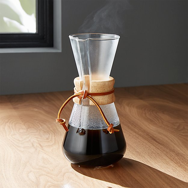 Chemex Coffee Maker ~ Chemex cup coffee maker crate and barrel