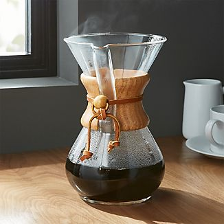 Chemex 6-Cup Coffeemaker with Wood Collar