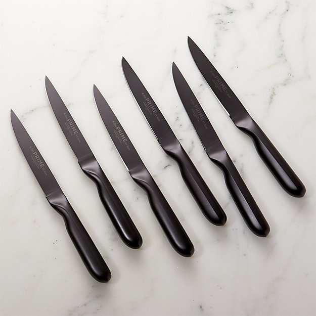 Prime ™ by Chicago Cutlery ® Black Oxide 6-Piece Steak Knife Set